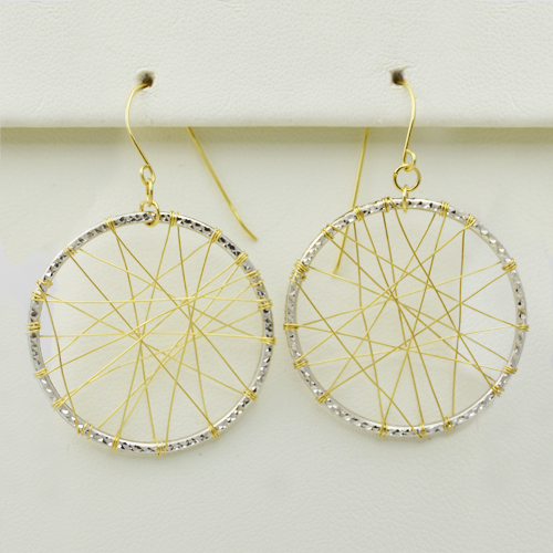 Two-Tone Dreamcatcher Earrings - Morgan's Treasure - Custom Jewelry