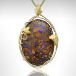 Custom Black Opal Pendant - Morgan's Treasure - Custom Jewelry