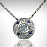 Custom Pendant with Diamonds and Sapphires - Morgan's Treasure - Custom Jewelry - www.morganstreasure.com