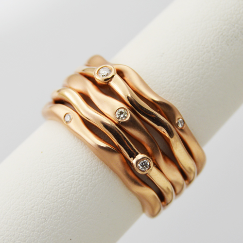 Rose Gold Ring with Diamonds - Morgan's Treasure - Custom Jewelry