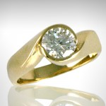 Custom 14k yellow Engagement Ring - Morgan's Treasure - Custom Jewelry