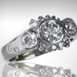 Custom 14k White Engagement Ring - Morgan's Treasure - Custom Jewelry