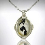 Custom Dentritic Quartz Pendant in White Gold - Morgan's Treasure - Custom Jewelry - www.morganstreasure.com