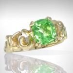 Custom Green Garnet Ring - Morgan's Treasure - Custom Jewelry - www.morganstreasure.com