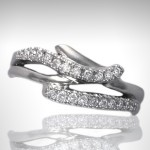 Custom Bridal Two-Row Diamond - Morgan's Treasure - Custom Jewelry