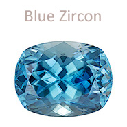 blue zircon gemstone december birthstone