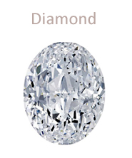 Oval-cut diamond gemstone april birthstone