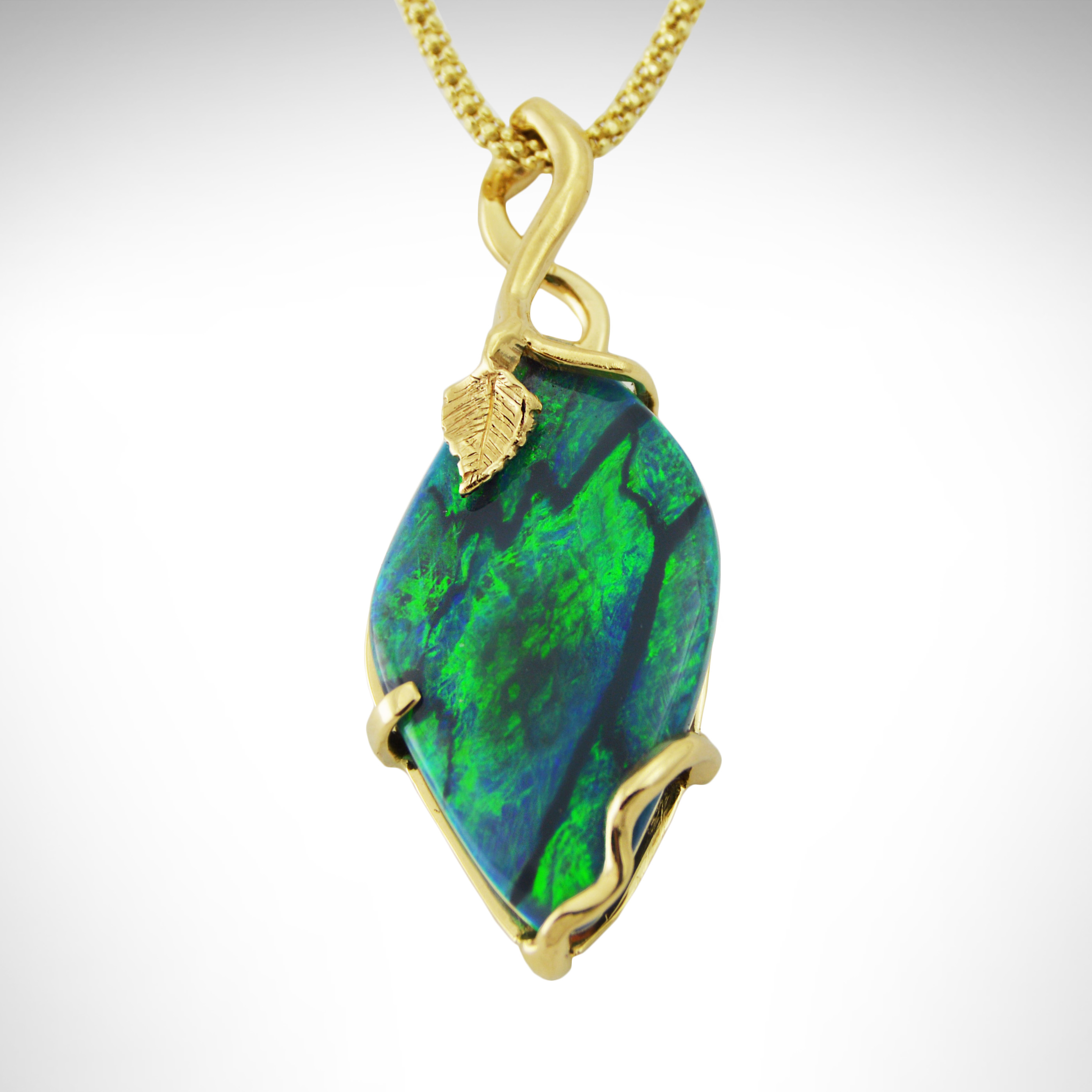 img product black green pendant opal solid necklace gold rewards